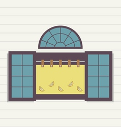 Flat design window vector