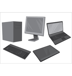 Computer equipment collection - vector
