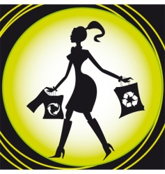 shopping recycle vector image