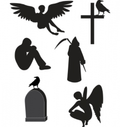 Death icons vector