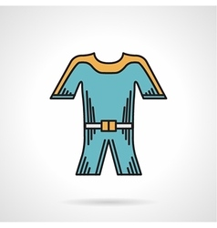 Flat style icon for wetsuit vector
