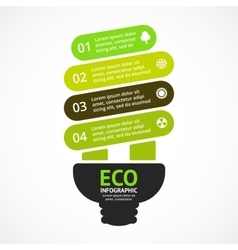 Energy efficient light bulb arrows green vector