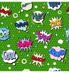 Comics bubbles seamless pattern in pop art style vector