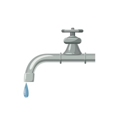 Dripping faucet icon cartoon style vector