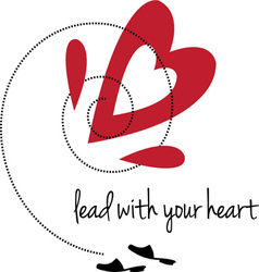 Lead with heart vector