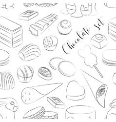 Chocolate set pattern vector image