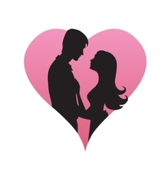 Couple concept Silhouette of man and womans vector image
