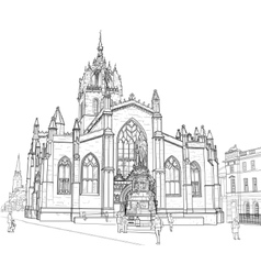 Sketch of st giles cathedral vector