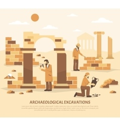 Archeology excavation vector