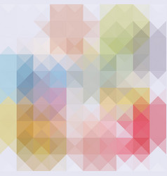 Abstract background of colored triangles vector