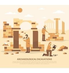 Archeology excavation vector
