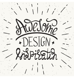 Awesome design inspiration handwritten design vector image vector image