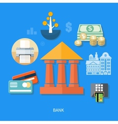 Bank office symbol vector