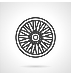 Bike wheel flat icon vector image