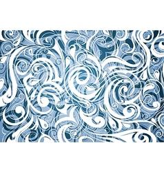 Blue elegant ornament vector image
