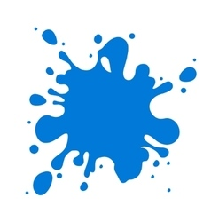 Blue water splash isolated over white vector image