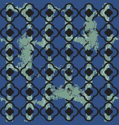 Brushed quatrefoil blue seamless pattern vector
