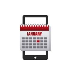 Calendar app smartphone icon vector