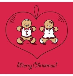 Christmas ball with Gingerbread decoration vector image