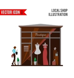 Clothing store man and woman boutique vector