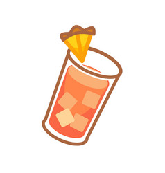cocktail served with orange vector image vector image