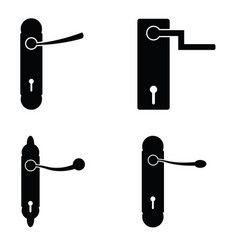 door handle icon set vector image vector image