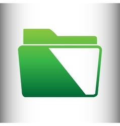 Folder sign Green gradient icon vector image vector image