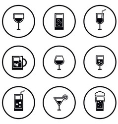 Glass and goblet set vector