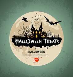Halloween treats message design vector image vector image