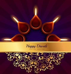 Happy diwali greeting design background vector