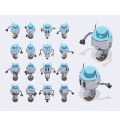 Isometric futuristic robot vector