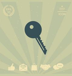 key symbol icon vector image