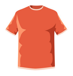 orange soccer shirt icon cartoon style vector image