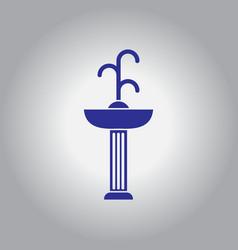 Park fountain vector