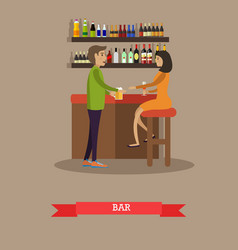 People drinking beer concept vector
