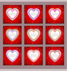 set of card templates to valentines day vector image
