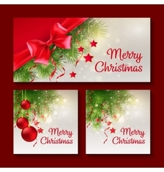 Set of christmas templates for print or web design vector