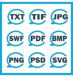Set of icons indicating the digital formats vector image