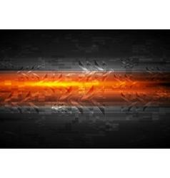 Shiny glow arrows orange background vector