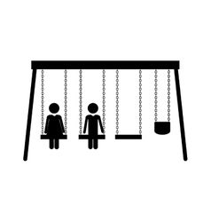 Swings playground design vector