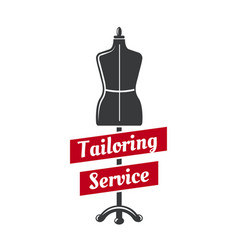 tailor dummy icon for tailoring service vector image
