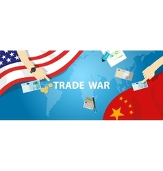 Trade war america china tariff business global vector