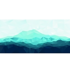 Triangle geometrical background with blue mountain vector