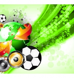 world football disco party vector image