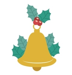 Bell of merry christmas design vector