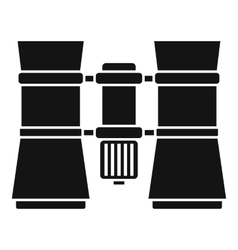 Binoculars icon simple style vector