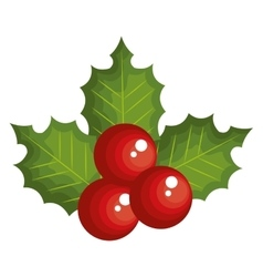 Merry christmas leafs decoration vector