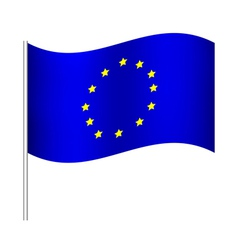 Europe union flag vector