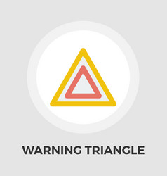 Warning triangle flat icon vector
