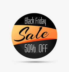 Black friday sale sign and symbol with discount vector